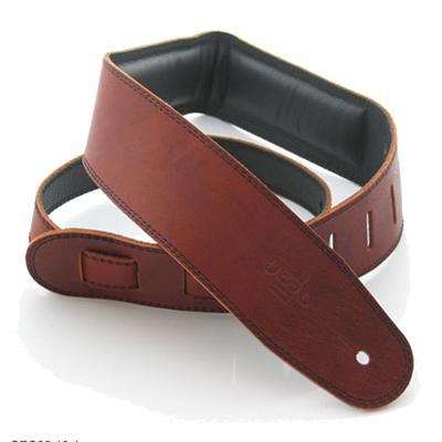 DSL Heavy Padded Leather Saddle Brown/Black Strap Accessories DSL Straps