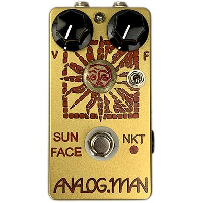 ANALOG MAN Sun Face Fuzz NKT-275 Red Dot Medium Gain Transistor, Red LED, On/Off Toggle, Sun Dial Knob, Power Jack