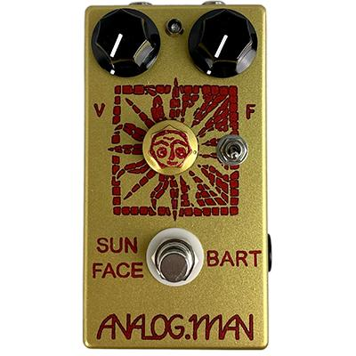 ANALOG MAN Sun Face Fuzz BART Germanium Transistors, Red LED, On/Off Toggle, Sun Dial Knob, Power Jack Pedals and FX Analog Man