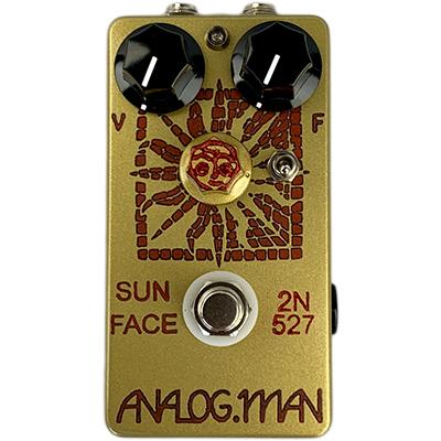 ANALOG MAN Sun Face Fuzz Standard Germanium Transistor, Yellow LED, On/Off Toggle, Sun Dial Knob, Power Jack Pedals and FX Analog Man