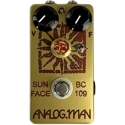 ANALOG MAN Sun Face Fuzz BC109C Silicon Transistor, Green LED, On/Off Toggle, Sun Dial Knob, Power Jack Pedals and FX Analog Man