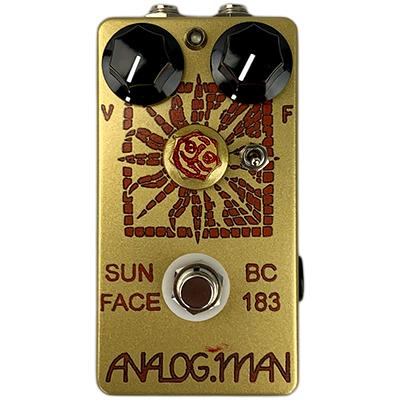 ANALOG MAN Sun Face Fuzz BC183 Silicon Transistor, Green LED, On/Off Toggle, Sun Dial Knob, Power Jack Pedals and FX Analog Man