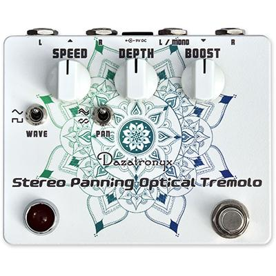 DAZATRONYX Stereo Panning Optical Tremolo Pedals and FX Dazatronyx