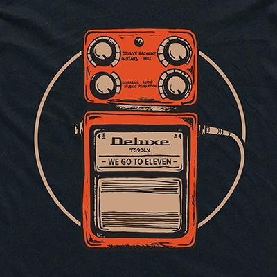 "DELUXE T-Shirt ""PEDAL"" - Large Accessories Deluxe Guitars"
