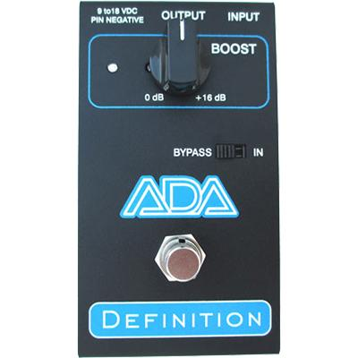 ADA Definition Preamp/Boost Pedals and FX A/DA Amps