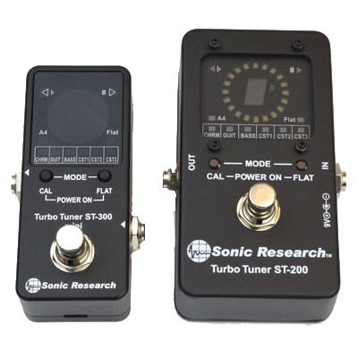 SONIC RESEARCH ST-300 Mini Turbo Tuner Pedals and FX Sonic Research