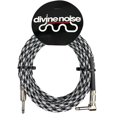 DIVINE NOISE Techflex Cable - 15ft ST-RA - CHECKERED FLAG
