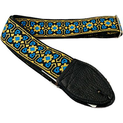 "SOULDIER STRAPS Vintage 2"" - Fillmore Turq/Gold/Black Accessories Souldier Straps"