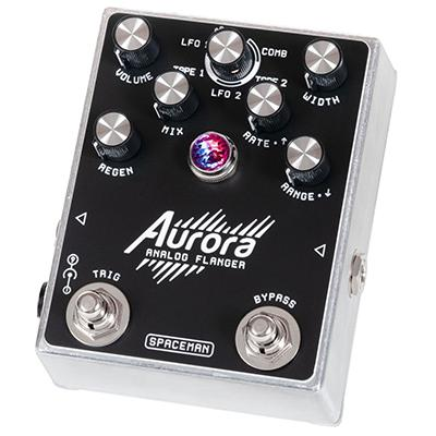 SPACEMAN EFFECTS Aurora Standard Silver Pedals and FX Spaceman Effects