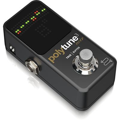 TC ELECTRONIC PolyTune-3 Noir Mini Guitar Tuner Pedals and FX TC Electronic