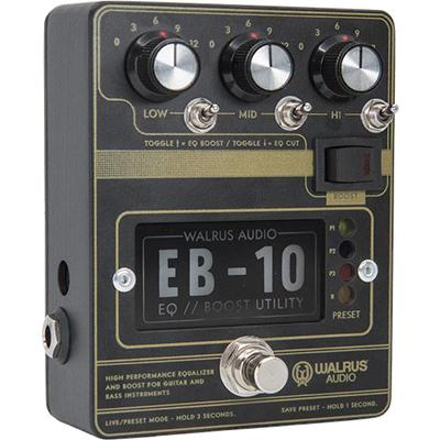 WALRUS AUDIO EB-10 Preamp/EQ/Boost (Black)