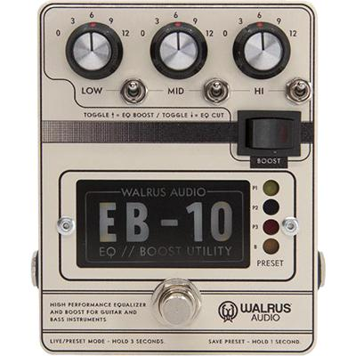 WALRUS AUDIO EB-10 Preamp/EQ/Boost (Cream) Pedals and FX Walrus Audio