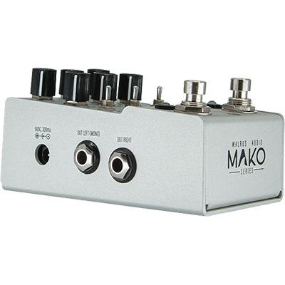 WALRUS AUDIO MAKO Series D1 High-Fidelity Delay Pedals and FX Walrus Audio