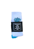 white / blue @sun sock