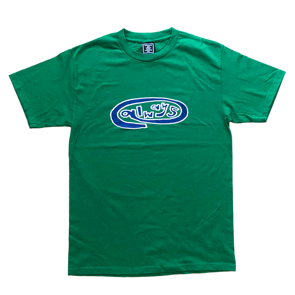 always oval green t-shirt