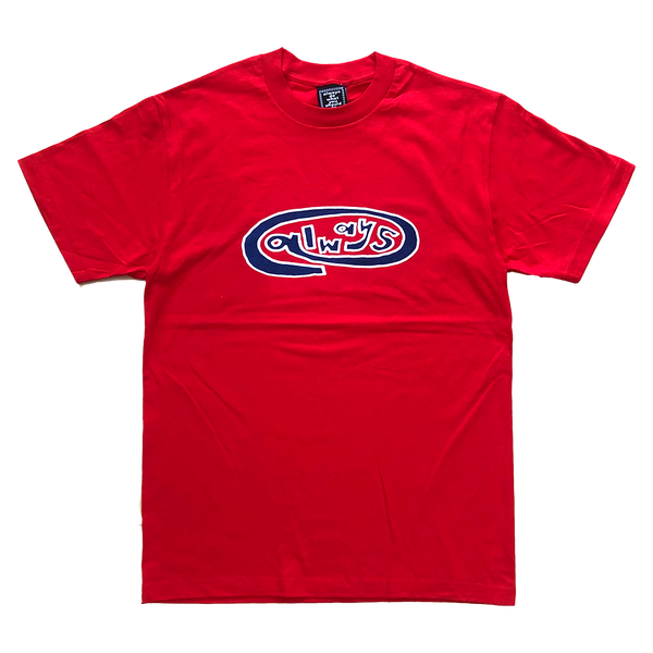 always oval red t-shirt
