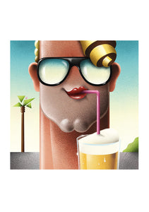 Man with glasses and beer--Limited edition of 25