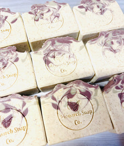 Lavender Patchouli Balancing Rhassoul Clay Soap, with Coconut Milk
