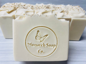 Triple Butter & Oatmeal Unscented Natural Soap for Sensitive Skin (Vegan)
