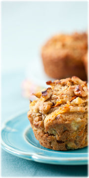 Golden Pineapple Carrot Muffins