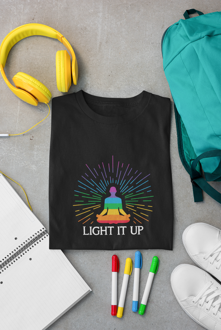 Light It Up - Inspirational Short-Sleeve Unisex T-Shirt