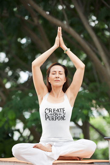 Create on Purpose: Inspirational Ladies' Racerback Tank