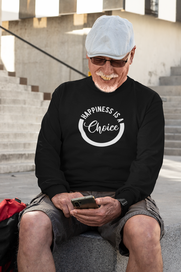 Happiness Is A Choice - Inspirational Unisex Long Sleeve Tee