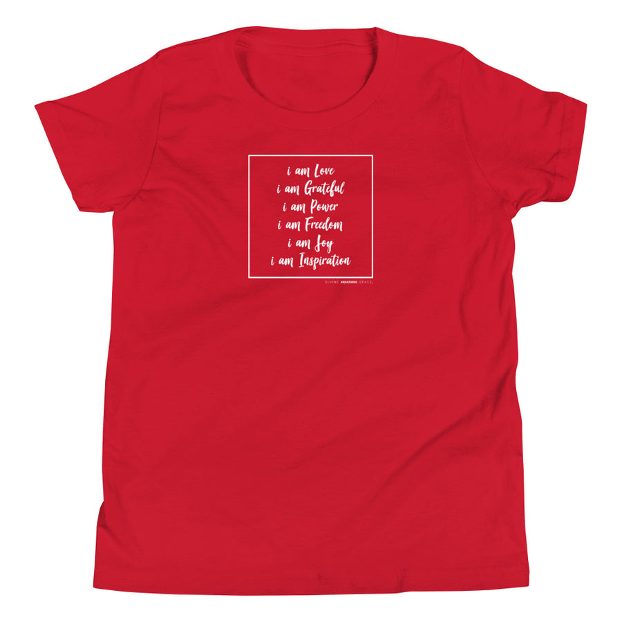 I Am Affirmations - Inspirational Kids Short Sleeve T-Shirt