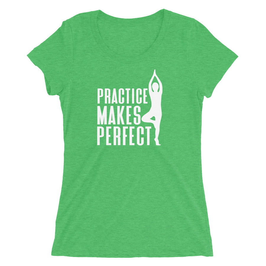 Practice Makes Perfect - Yoga - Inspirational Ladies' short sleeve t-shirt