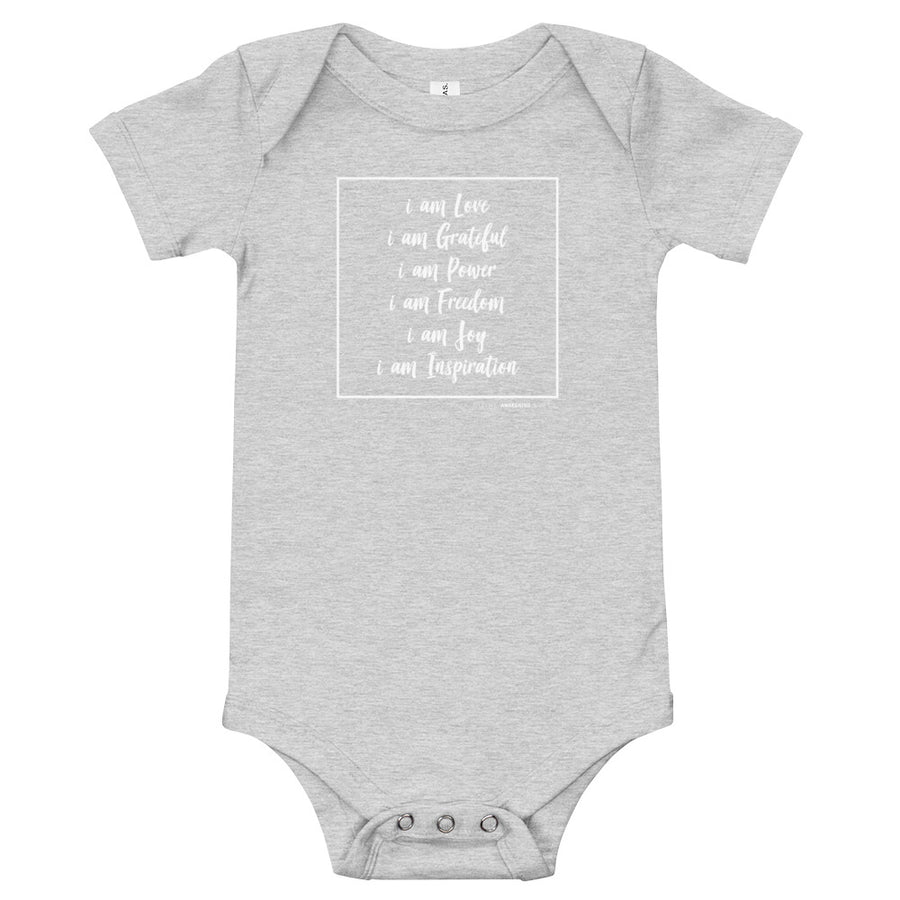 I AM AFFIRMATIONS - Inspirational Baby One Piece