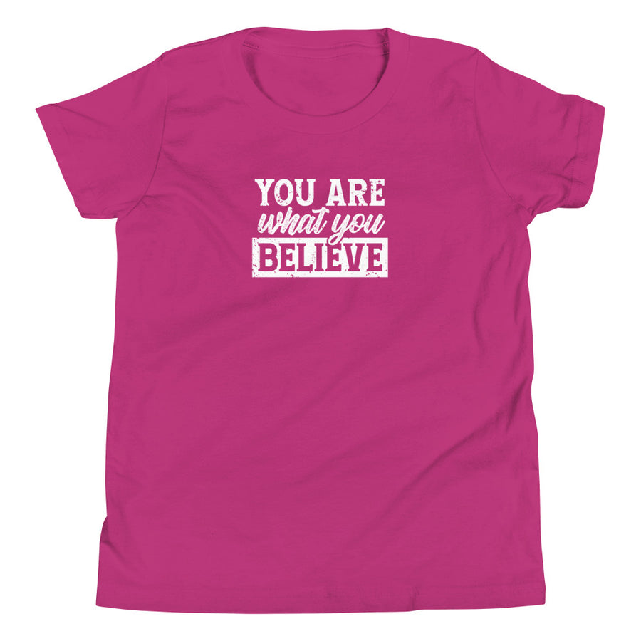 You Are What You Believe - Inspirational Kids Unisex T-Shirt
