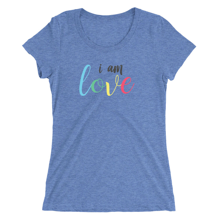 I AM LOVE: Inspirational Ladies' short sleeve t-shirt