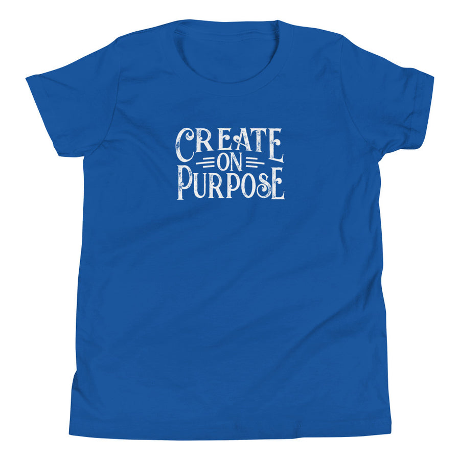 Create on Purpose - Inspirational Kids Unisex T-Shirt