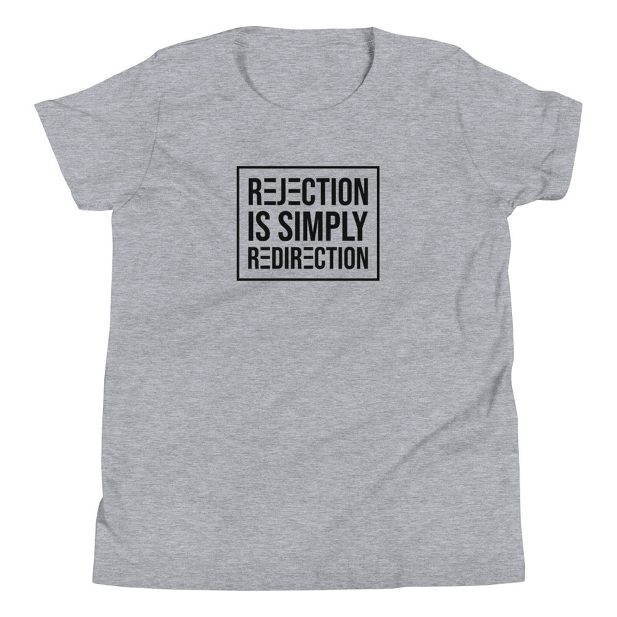 Rejection Is Simply Redirection - Inspirational Kids' Short Sleeve T-Shirt