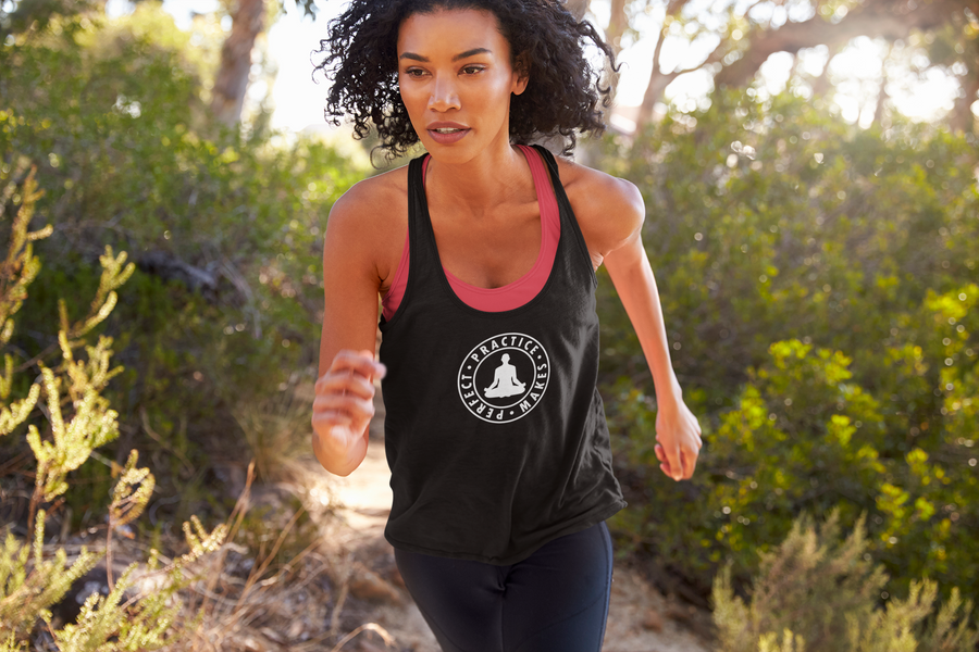 Practice Makes Perfect - Meditation - Inspirational Ladies' Tank