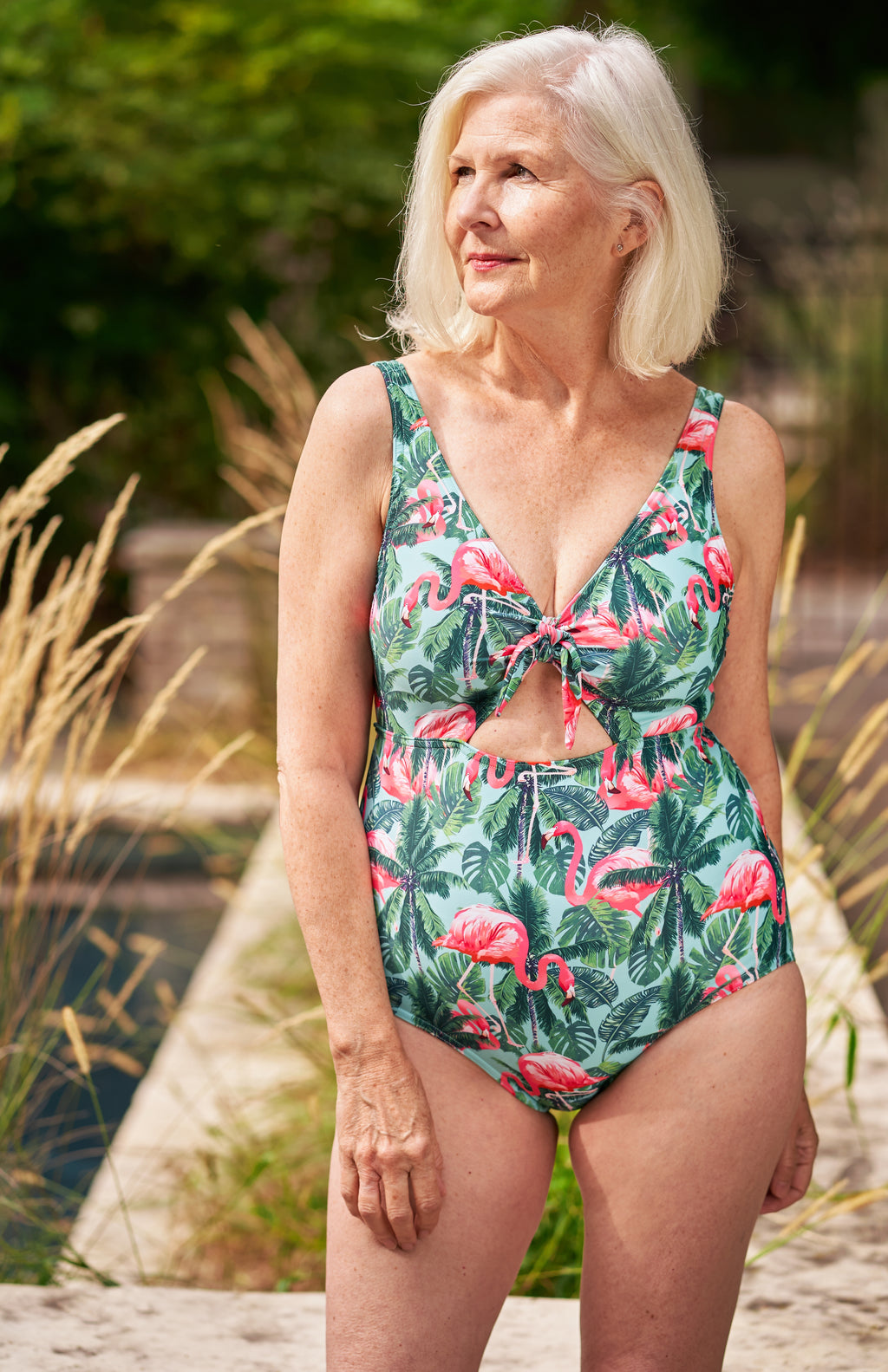 Flamingo Peek-A-Boo One Piece