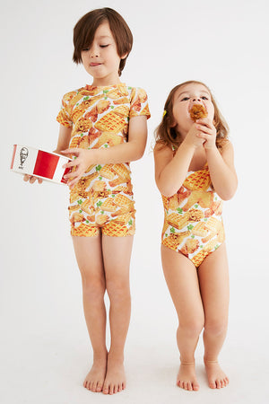 Chicken & Waffles Swimwear for Kids