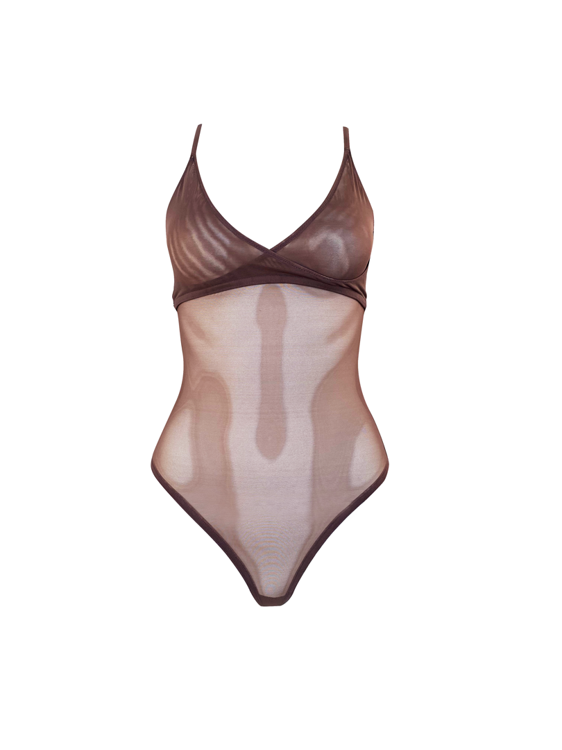ALLURE SHEER HALTER BODYSUIT