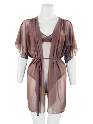 ALLURE SHEER PLEATED ROBE