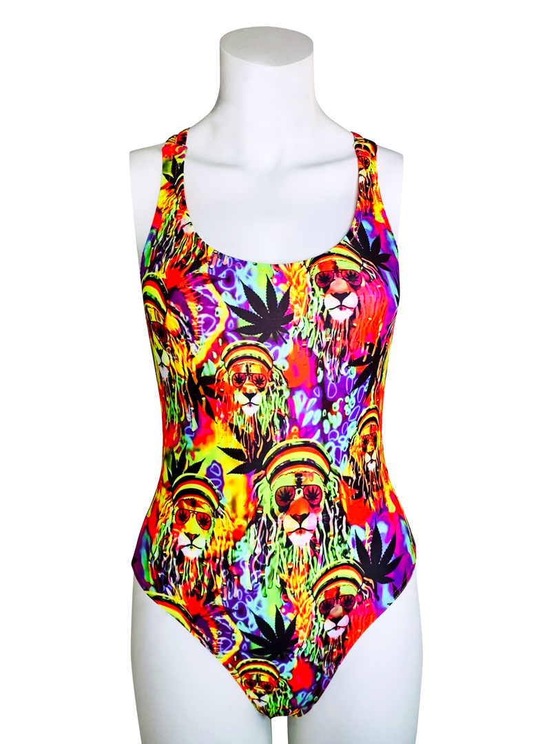 RASTA LION CRISS CROSS TANK