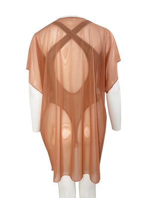 ADDICT SHEER PLEATED ROBE