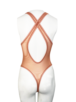 ADDICT SHEER THONG BODYSUIT