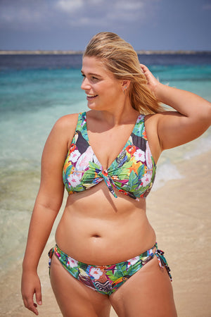colourful tropical pattern bikini made in Canada by Bathing Belle Swimwear