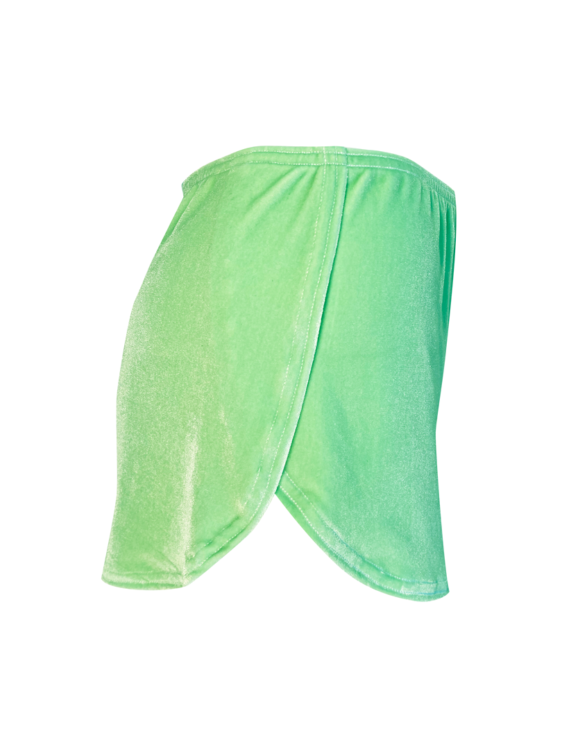 MINT GREEN VELVET LOUNGE SHORT