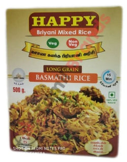 Happy Briyani Mixed Basmathi Rice 500g Asian Marketting
