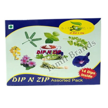 Assorted Pack of Herbal Dip extracts Best Alternative Tea & Coffee Dip N Zip