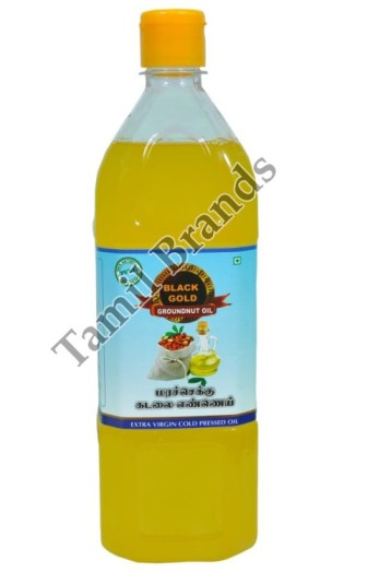 100% Natural Marachekku Groundnut oil 1 ltr Black Gold Edible Oils