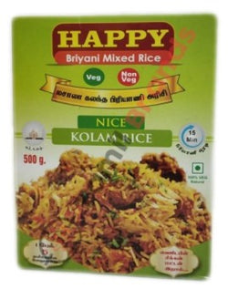Happy Briyani Mixed Nice Kolam 500g Asian Marketting