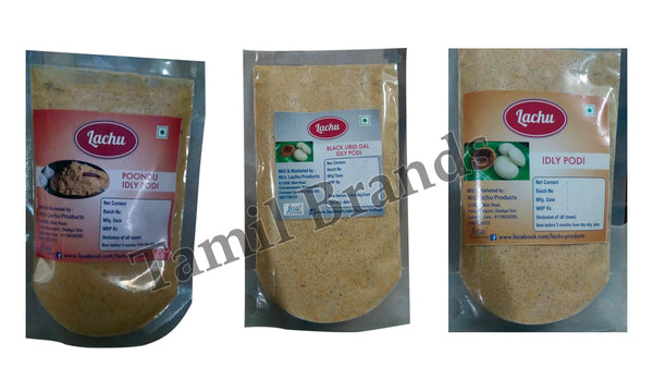 Variety of Idly Powders ( From Lachu Products) - Tamil Brands