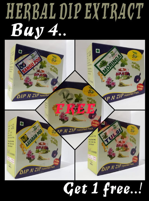 Save Rs. 200 Herbal Dip extracts Buy 4 and get 1 free (Best Alternative for Tea & Coffee) | Dip N Zip - Tamil Brands